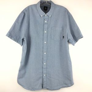 Men's Vans Short Sleeve Chambray Classic Fit Shirt